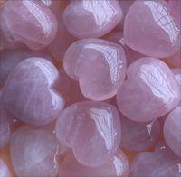 Natural Rose Quartz Heart Shaped Pink Crystal Carved Palm Love Healing Gemstone Lover Gife Stone Crystal Heart Gems Hpkal Lu4Er 929 R2