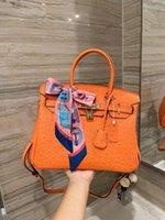 2021 bag Handbag orange scarves accessories fashion taste leisure inside and outside full leather super soft comfort