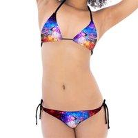 Пляжный купальник вскользь бикини из двух частей набор пяти цветов