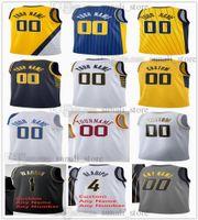 Impreso Basketball Jerseys 3 Chris Duarte Caris Levert 22 Domantas Sabonis 11 Malcolm Brogdon 7 Myles Turner 33 Oshae Brissett Isaiah Jackson Georgios Kalaitzakis