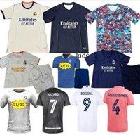 2021/2022 Real Madrid Jerseys 2020 Pericolo ISCO Reinie Soccer Sergio Ramos Modric Bale 20 21 Jersey di calcio Uomini Bambini Kit Hombres Niños Camisetas