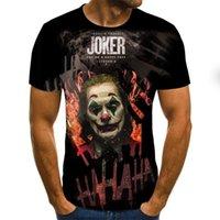 Tolles Deal 2020 Joker Face Printed Herren Clown 3D T-Shirt 3D Clown T-shirt lustige Kurzarm-T-Shirts-Tops und T-Shirts XXS-6XL