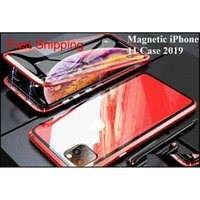 Cell Cases Luxury Double Side Glass 360 Magnetic Adsorption Metal 11 Max 12 Mini Pro 7 8 Plus Case For Phone Xr X Xs 7Oqtx Ckenf