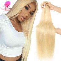 QUEEN BEAUTY 1 3 4 Bundle Mixed Lengths 613 Blonde Brazilian Weave Straight Human Hair Bundles 26 28 30 32 34 36 38 40 Inch
