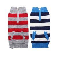 Dog Apparel Sweater Pet Clothes Striped Warm Puppy Cat Coat Jacket Soft Knitwear Clothing For Small Large Dogs Dachshund