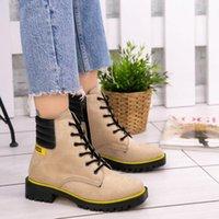 Jodi Suede Stivali in lacci in lacci invernali Zip e lace-up Elegante Colore 2021 Moda Soletta ortobica Postale Donne di alta qualità Nuova qualità1