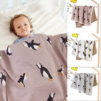 Babydecken Gestrickte Neugeborenen Swaddle Wrap Decke Schlafsack für Kinderwagen Bettwäsche Deckeln Cartoon Infantil Bebes Quilts 100 * 80 cm 851 x2