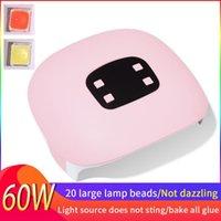 Nail Dryers 60W Dryer LED UV Lamp 20 USB Charging Manicure Dry Drying Gel Polish Auto Sensor 30 60 90s Tool