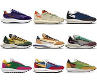 2021 Release Clots Sacai X LDV Waffel Vaporwaffel Outdoor Schuhe Fragment Desig Segel Bösewicht Rote Herren Turnschuhe Frauen Mode Atmen Sport US 5,5-12