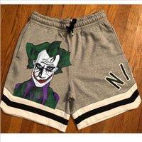 Summer men's shorts foreign trade cotton Capris cross border beach pants Amazon cartoon printed sports casual mens designer