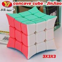 퍼즐 마법 큐브 Yongjun 오목 큐브 Jinjiao 3x3x3x 3 * 3 333 3Layer Stickerless Professional Kids 교육 논리 게임 완구