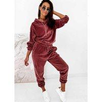 Autumn Velour Tracksuit Womens Velvet Set Woman Tracksuit Sets Winter Velvet Suit Two Piece Set Women 2 Piece Outfits