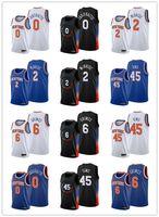 "Rokas Jakubaitis 0 Quentin Grimes 6 Jericho Sims 45 Meilen McBride 2 2021 Entwurf Basketball New York ""Knicks"" Männer Black Edition City Jersey"