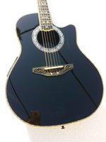 탄소 섬유 바디 6 문자열 Ovation 어쿠스틱 전기 기타 흑단 Fretboard F-5T 프리 엠프 픽업 EQ 전문 민속 Guitare