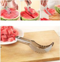 Stainless Steel Watermelon Slicer Cutter Melons Knife Cutter Corer Scoop Fruit Vegetable Tools Kitchen Gadgets NHE6603