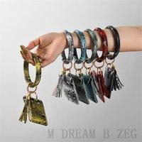 Party Gift PU Cards Bag Wallet Bracelet Keychain Pendants Leather Tassel Credit Card Holder Pendant Bangle Wristlet Keyring Accessory