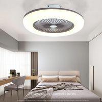 Moderna intelligenta takfläktlampor Ljus Sovrum Vardagsrum Bluetooth Remote Control Inverter Barn Hanglamp Hem Dcoration Inomhusbelysningsarmaturer