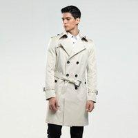 6XL erkek trençkot boyutu özel terzi İngiltere adamın kruvaze uzun bezelye ceket siper slim fit klasik siperlik hediyeler olarak