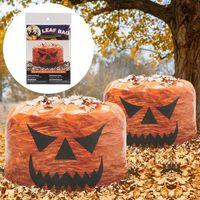 Halloween Atmosphère Décoration Pumpkin sac Sac de pelouse de pelouse de jardin décoration de jardin sac poubelle amusant repenne pratique pratique