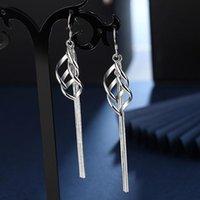 Dangle & Chandelier Viwisfy Real 925 Sterling Silver Jewelry Long Tassel Leaf Drop Earrings For Women VW21242