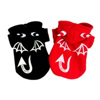 Dog Apparel Funny Demon Halloween Puppy Hooded Coat Jackets Small Dogs Outfits Hoodie Sweatshirts Costumes Winter Fall Clothes Pet Supplies