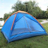 Палатки и укрытия Кемпинг Палатка 3-4 Человек Семья Купол Легкий Настройка Двойной слой Водонепроницаемый Для Пешие прогулки Trekking
