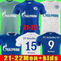 2021 2022 Huntelaar Futbol Formaları Kutucu 20 21 Serdar FC Schalke 04 Harit Raman Futbol Gömlek Ozan Harit Ev Mavi Uzakta Beyaz Jersey Erkekler