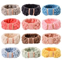 bands Bowknot headdress lovely coral velvet butterfly end hairband face wash make-up headband Yoga
