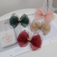 Acessórios de cabelo Boutique 20 pcs Moda Glitter Tiaras Bow Hairpins Crown Tulle Bowknot Barrettes Clipes Princesa Headwear