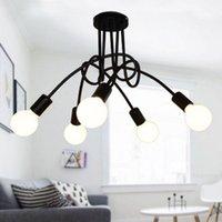Chandeliers 3 5 8 Lights LED Chandelier Light Spider Ceiling Lamp 220V Modern Creative Curve Design For Kitchen Restaurant Living Room