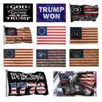 DHL العلم الأمريكي الإيمان فوق الخوف الله يسوع 3x5ft أعلام 100D البوليستر لافتات داخلي في الهواء الطلق اللون حية جودة عالية مع اثنين من الحلقات النحاسية