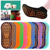 Sport calze 1pair adulto professionale anti-skid yoga trampolino parco giochi in cotone traspirante pavimento in cotone pilates assorbenti