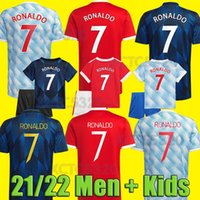 # 7 Ronaldo # 25 Sancho Home Red Futbol Jersey 2021/2022 # 11 Greenwood # 18 B.Fernandes Uzakta Futbol Gömlek 21/22 # 10 Rashford # 6 Pogba # 23 Shaw Futbol Formaları Özelleştirilmiş
