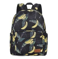 Ins style printed campus male and female junior high school schoolbag Korean version large capacity leisure backpack