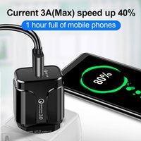 QC3.0 18W FAST USB-Ladegerät Schnellladung EU US-Steckeradapter für Mobiltelefon Xiaomi Samsung S10 S20 Plus