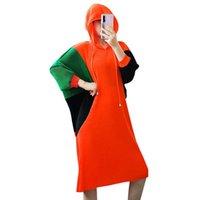 Robes décontractées Vanovich Automne et printemps 2021 Femmes Robe De Coton Loisirs Fashion Dames Mesure à manches longues Vêtements à capuchon