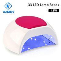 UV LED Lámpara Nail para clavos Secadora 48W 33 LEDS Secado de gel Barniz Manicure Art Tool1