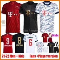 21 22 Lewandowski futebol jerseys fãs versão jogador sane goretzka munich coman muller Davies bayern kits kits 2021 2022 camiseta camisa de futebol camisas de futebol