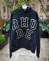 패치 남성과 여성 FCJ6을위한 Rhude High Hoodie Street Chenille