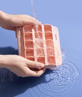 15 Golfvormige Cubs Gereedschap Food Grade Silicone Ice Cubes Maker Jelly Making Mold met Cover CCF7461