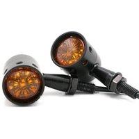 Lumières d'urgence Ambre Universal Moto Lens de moto rétro Ampoule de virage halogène utilisé pour les indicateurs latéraux de la plupart des motocyclettes