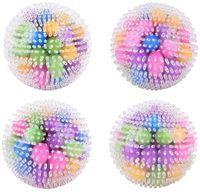 США Стоковые ДНК Squired Stress Ball Squeze Цветовая сенсорная игрушка - Снимите напряжение напряжения - Домашнее путешествие и офисное использование FY9409