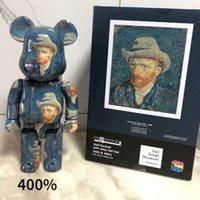 Van Gogh 400% Bearbrick Eylem Oyuncak Figürler Mükemmel Restorasyon Yapı Bloğu Ayı Javier Calleja PVC El Yapımı Model