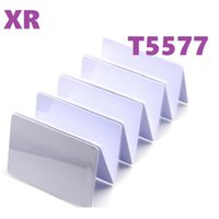 Xiruoer 100Pcs T5577 Blank Card RFID Chip Cards 125 khz Writable Rewrite Duplicate Tags Access Control 125khz T5577 Rewritable Cards