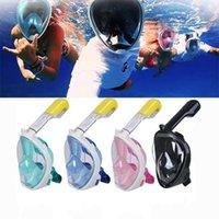 Máscaras de respiração de mergulho Máscaras Explosão Gel Full Face Top Qualidade Snorkeling Terno Natação Óculos de Natação Esportes de Água Longa Life 73OM F1
