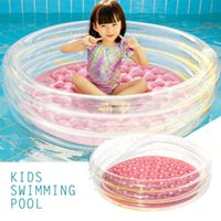 Pool & Accessories Outdoor Play Toys Summer Round Inflatable For Kids Fun Basin Sequin Decor