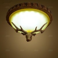 Ceiling Lights Nordic Personalized Lamp, Creative Dining Room, Study Retro, Warm And Simple Bedroom, Bar, Antlers, Lamp