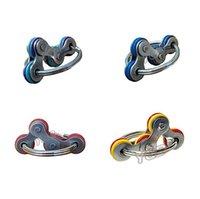 2.5cm flip fidget brinquedos cadeia de bicicleta spinner chaveiro chaveiro poo-seu dedo spinners autismo stress relevo descompressão metal keychain engraçado brinquedo hh41uusd engraçado