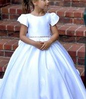 Роскошные Crystal Bears Цветочные Девушки Платья для свадебных Мяуженных Тюль Первое Причастие Платье Детские Пагенты