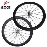 Roues à vélos BZKE Carbon 700C Tubes Bicyclette 35mm Profondeur WheelSet Powerway R36 HUBS